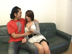 Japanese Beauty licked and cummed on