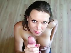 Stunning blowjob in POV along Valerie Voxx