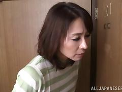 Curvy matured Asian cowgirl getting her natural tits fiddled immensely