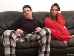 Pornstar Marie Madison gives him a deepthroat blowjob