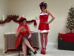 Xmas, BDSM, Big Tits, HD, Panties, Spanking