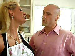 Two sexy blondes get fucked, swap partners and gets showered with jizz