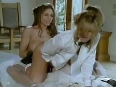 Lesbian Bride and Groom Strapon Fuck