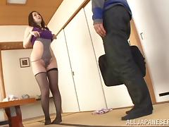 Busty matured Asian dame with big ass getting screwed doggystyle