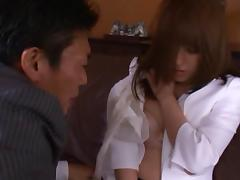 Mihiro Japanese secretary enjoys hot sex