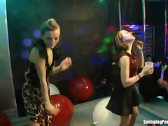 Lesbian Swingers, Club, Dance, Erotic, Glamour, Group