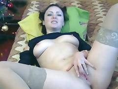 Ukrainian, Masturbation, Stockings, Tits, Ukrainian