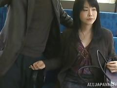 Japanese Mature, Asian, Bus, Handjob, Japanese, Mature