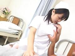 Miku Hoshino Hot Asian nurse in lingerie fucks