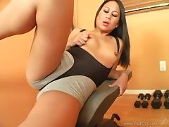 Kayme Kai enjoys fervent fingering and rides a hard wang