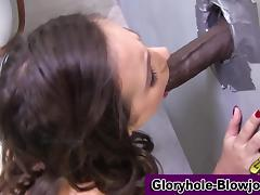 Ho swallows at gloryhole