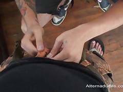 Hardcore cock-sucking action with insatiable queer Israel Oka