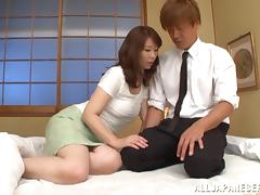 This mature Japanese babe gets fucked nice and hard